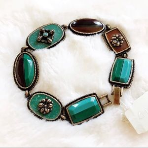 Liz Claiborne Bracelet, brown and turquoise